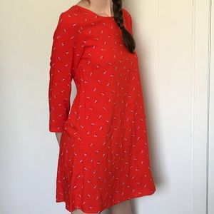 NWT Old Navy red floral dress